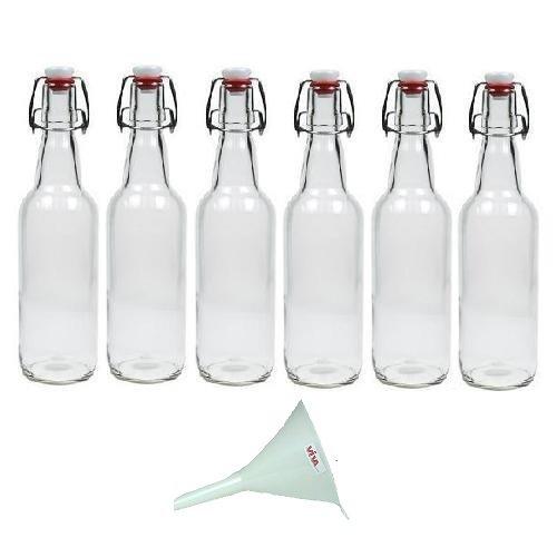 6 x glasflasche 500 ml mit b gelverschluss aus porzellan zum bef llen als milch saft und. Black Bedroom Furniture Sets. Home Design Ideas