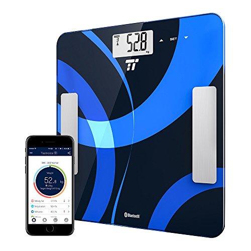 digitale personenwaage k rperfettwaage taotronics gewichtswaage k rperwaage mit app anbindung. Black Bedroom Furniture Sets. Home Design Ideas