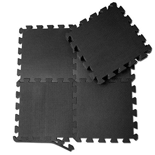 schutzmatten set von bemaxx fitness 18 puzzlematten bodenschutzmatten unterlegmatten. Black Bedroom Furniture Sets. Home Design Ideas