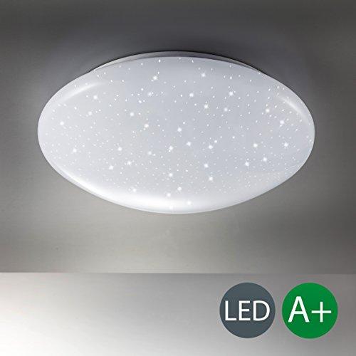 lampe mit sternenlicht glitzereffekt deckenlampe weiss. Black Bedroom Furniture Sets. Home Design Ideas