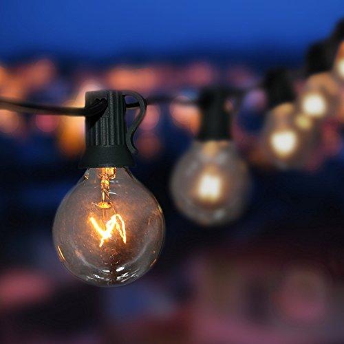Lichterkette au en oxyled lichterkette gluehbirne aussen g40 25ft lichterkette garten - Garten lichterkette ...